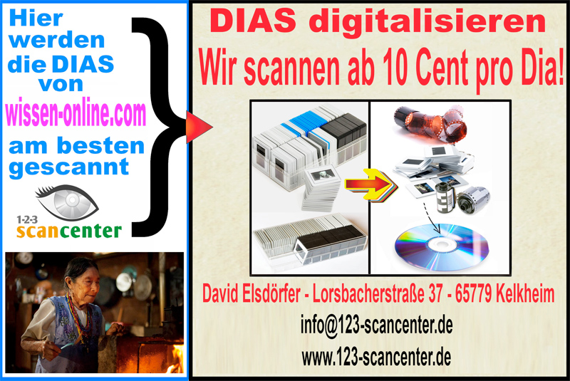 Scancenter - Dia-Digitalisierung